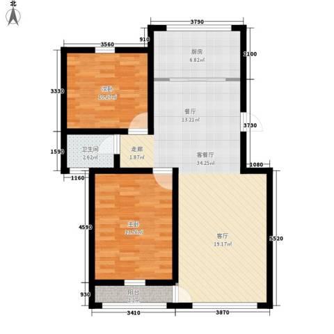 盘蠡新村2室1厅1卫1厨80.00㎡户型图
