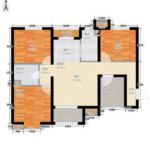 启新18893室1厅1卫1厨123.00㎡户型图