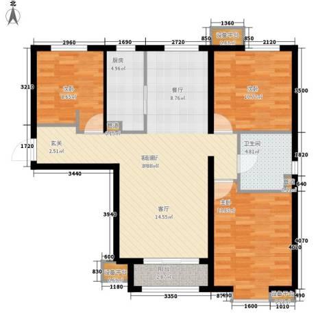 启新18893室1厅1卫1厨118.00㎡户型图