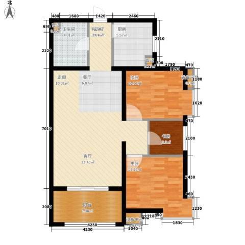 启新18893室1厅1卫1厨111.00㎡户型图