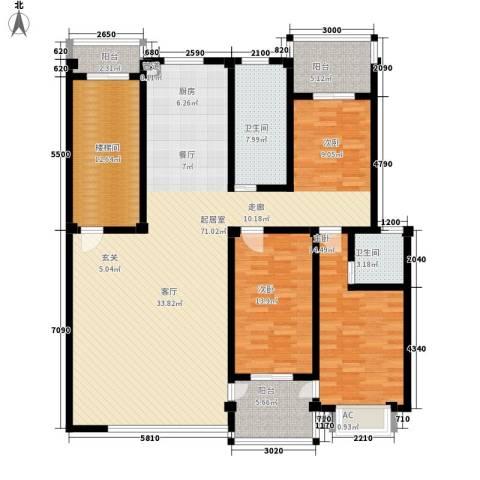 西湖景园2室0厅2卫0厨155.00㎡户型图