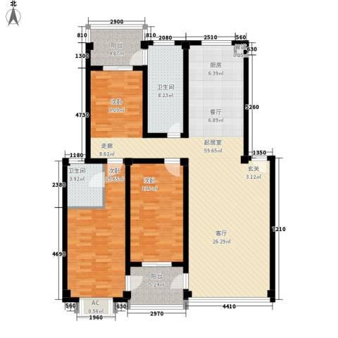 西湖景园2室0厅2卫0厨145.00㎡户型图