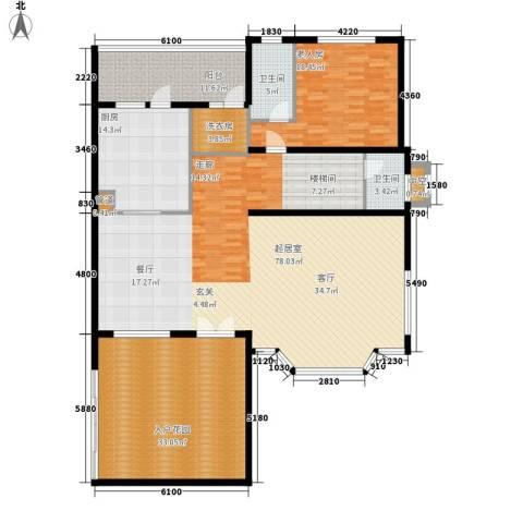 洛阳碧桂园1室0厅2卫1厨232.00㎡户型图