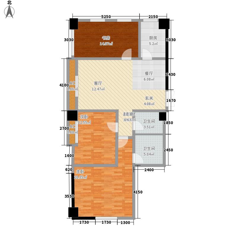 新津国际121.00㎡新津国际户型图C户型3室2厅2卫1厨(3/3张)户型3室2厅2卫