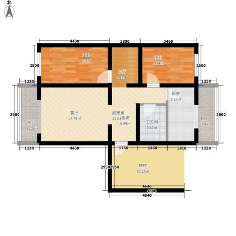 康馨花园2室0厅1卫1厨86.00㎡户型图