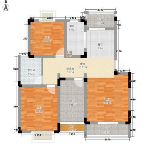 望景华庭2室0厅1卫1厨97.00㎡户型图