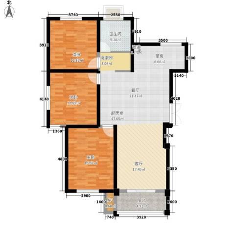 鸿运家园3室0厅1卫0厨115.00㎡户型图