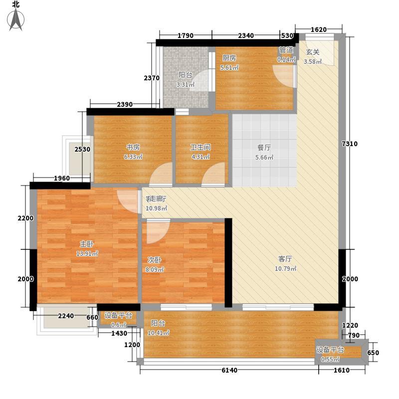 保利中宇广场B2单元2室2户型
