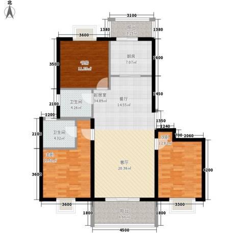 贤文花园3室0厅2卫1厨139.00㎡户型图