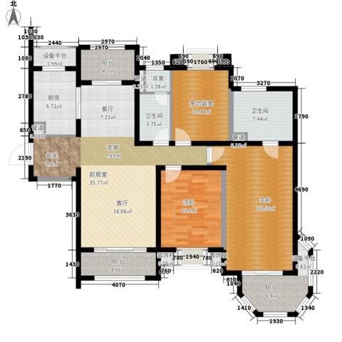 澜调国际2室0厅2卫1厨141.00㎡户型图