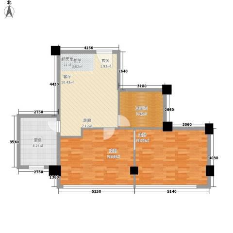 常青苑2室0厅1卫1厨82.00㎡户型图
