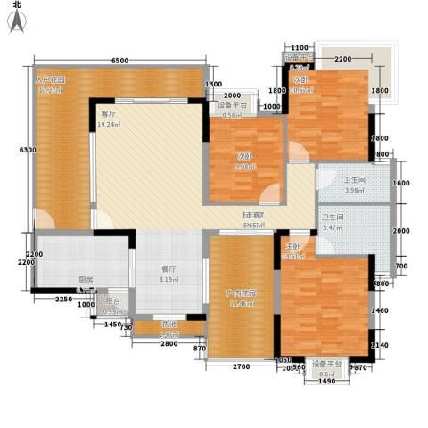 仁和WE城3室0厅2卫1厨125.00㎡户型图