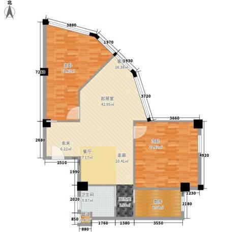 常青苑2室0厅1卫1厨108.00㎡户型图