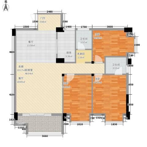 湖光山色3室0厅2卫1厨145.00㎡户型图