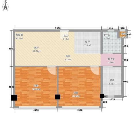 常青苑2室0厅1卫1厨104.00㎡户型图