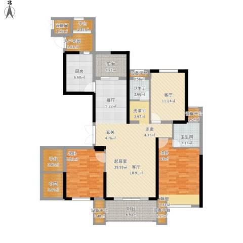 融侨华府2室1厅2卫1厨175.00㎡户型图