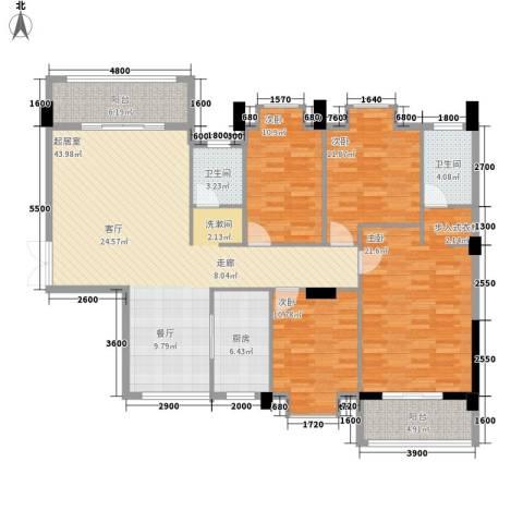 湖光山色4室0厅2卫1厨172.00㎡户型图