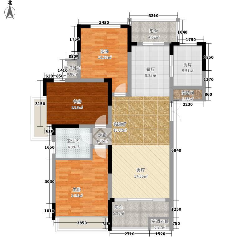 浙建枫华紫园116.00㎡13、16#楼J面积11600m户型
