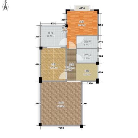 太湖纯水岸别墅2室0厅2卫0厨189.00㎡户型图