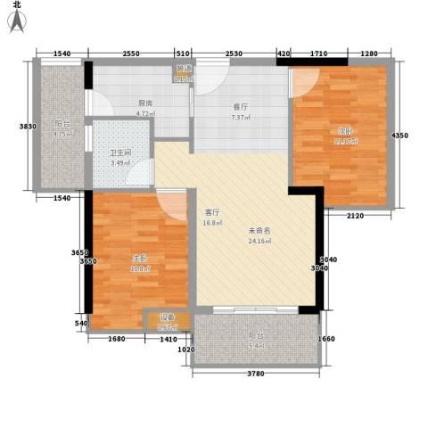 东裕广场2室0厅1卫1厨93.00㎡户型图