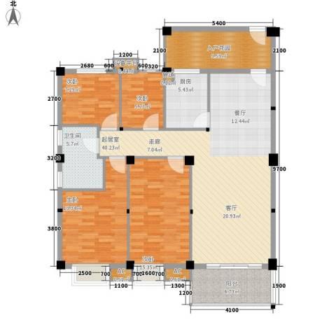 汉基花园4室0厅1卫1厨127.00㎡户型图