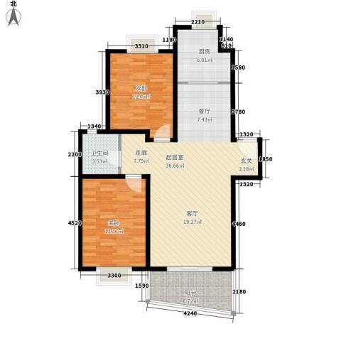 恒通花园2室0厅1卫1厨109.00㎡户型图