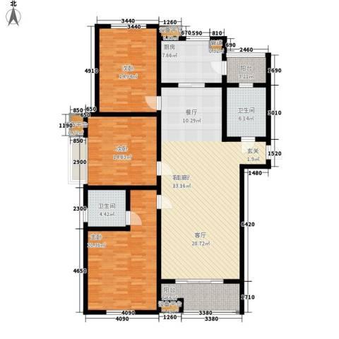 里奥福苑3室1厅2卫1厨179.00㎡户型图
