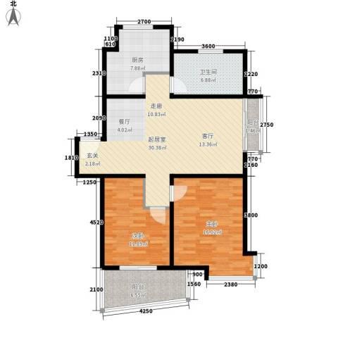 恒通花园2室0厅1卫1厨114.00㎡户型图