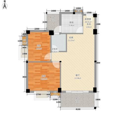 汉基花园2室0厅1卫1厨84.00㎡户型图