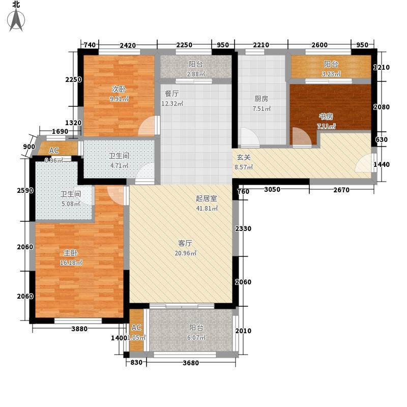 华润置地橡树湾123.00㎡A6新品5户型3室2厅