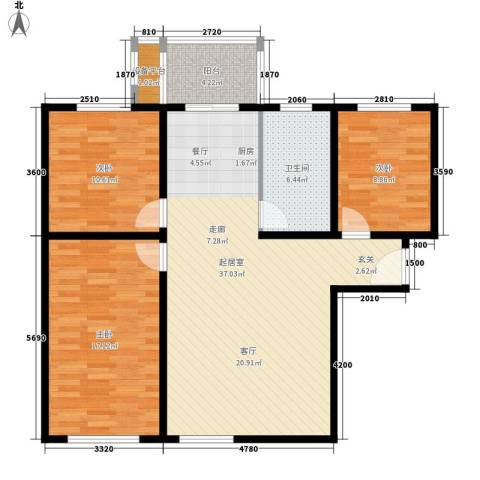 碧玉华府3室0厅1卫0厨119.00㎡户型图