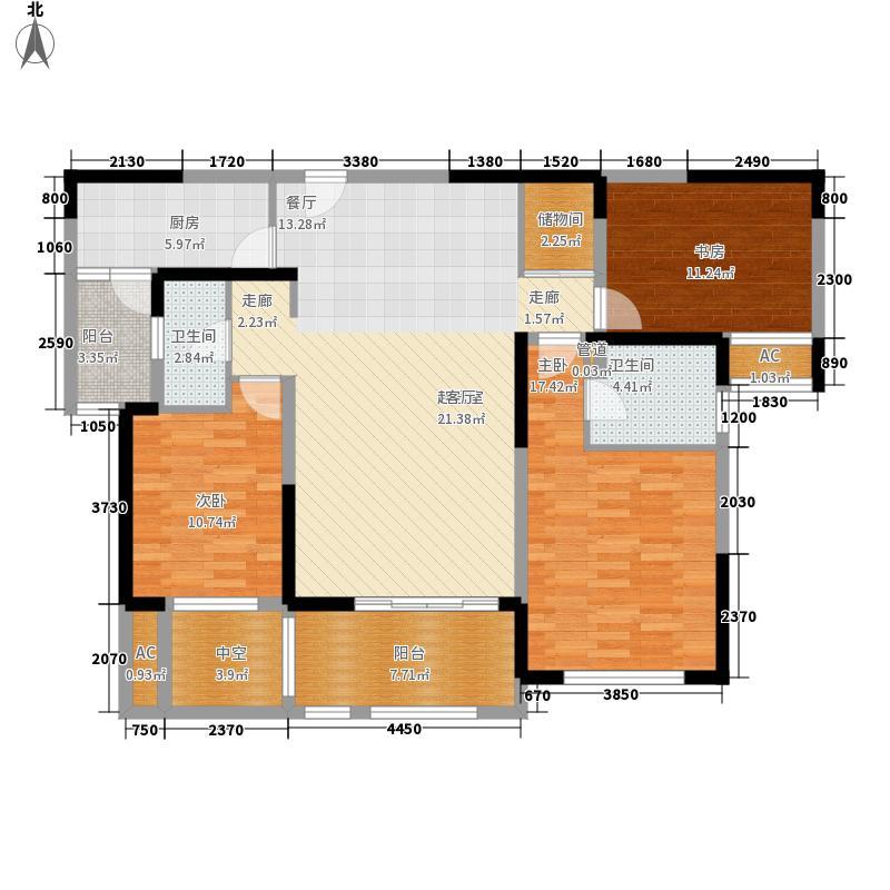 华润置地橡树湾125.00㎡A6新品3户型3室2厅
