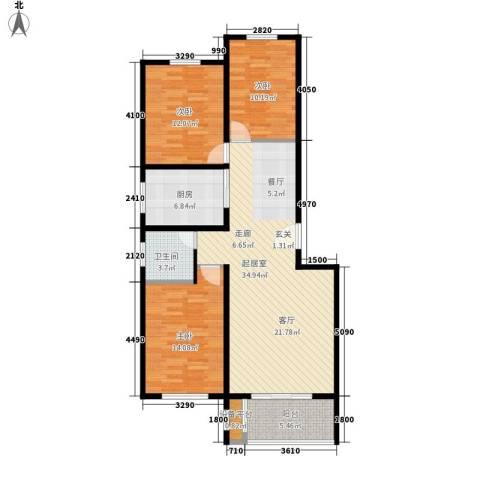 碧玉华府3室0厅1卫1厨123.00㎡户型图