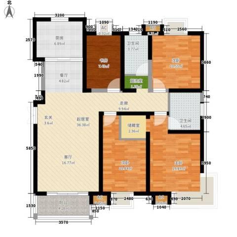 西市佳园4室0厅2卫1厨148.00㎡户型图