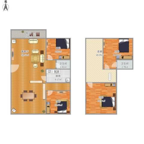 锦绣江南二期4室1厅2卫1厨198.00㎡户型图