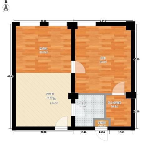 天富家园-天富公馆1室0厅1卫0厨44.99㎡户型图