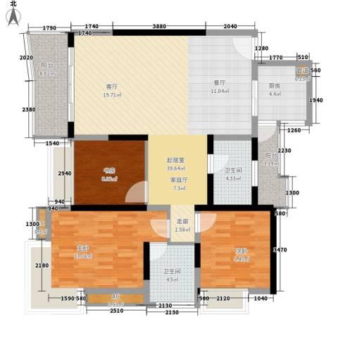 水天一色3室0厅2卫1厨109.00㎡户型图