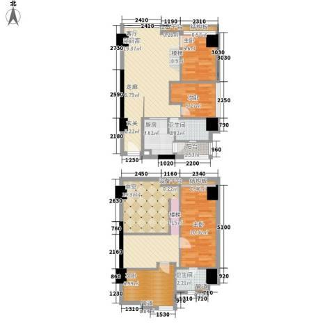 富力盈丰大厦4室0厅2卫1厨91.00㎡户型图