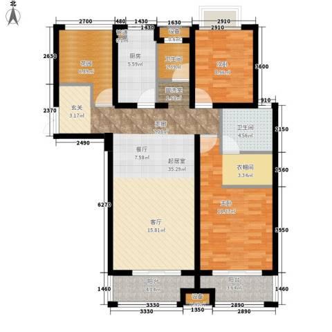 正荣财富中心2室0厅2卫1厨116.00㎡户型图