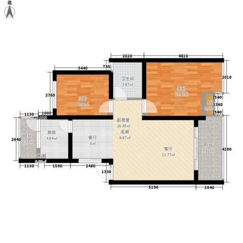 水天一色2室0厅1卫1厨74.00㎡户型图