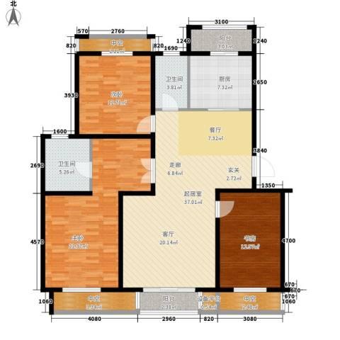 恒通花园3室0厅2卫1厨163.00㎡户型图