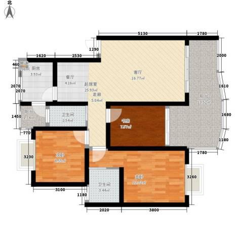 水天一色3室0厅2卫1厨93.00㎡户型图
