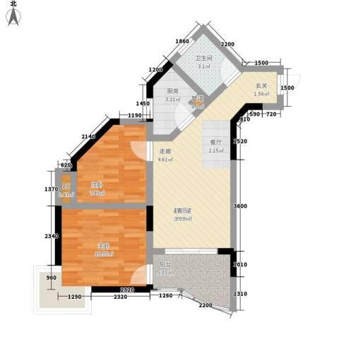金银苑2室0厅1卫1厨52.00㎡户型图