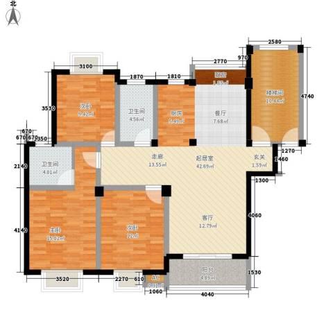 上层9号3室0厅2卫0厨118.00㎡户型图