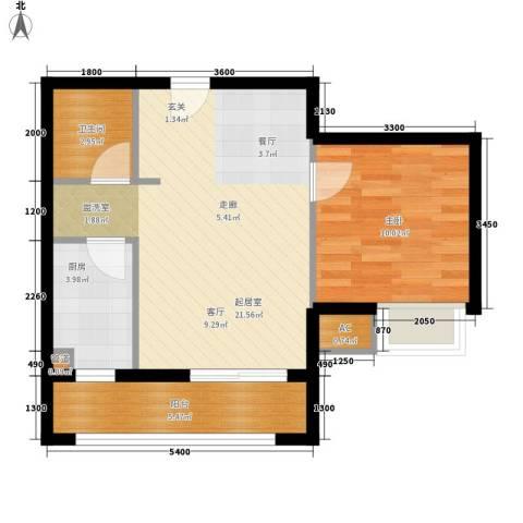 常青苑1室0厅1卫1厨65.00㎡户型图