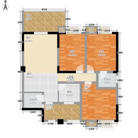 锦业大厦3室0厅2卫1厨139.00㎡户型图