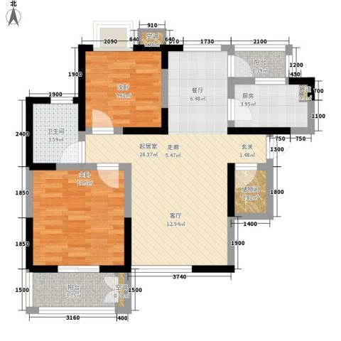 边家村陕建一公司家属院2室0厅1卫1厨88.00㎡户型图