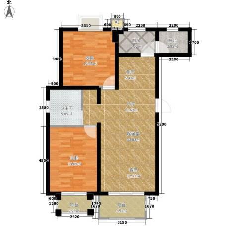 金榜名苑2室0厅1卫1厨112.00㎡户型图