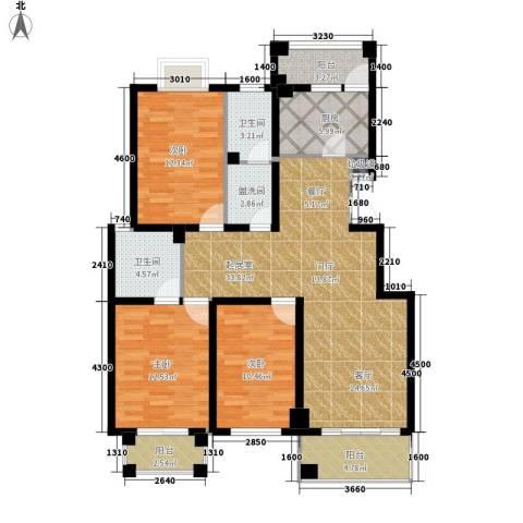 金榜名苑3室0厅2卫1厨141.00㎡户型图