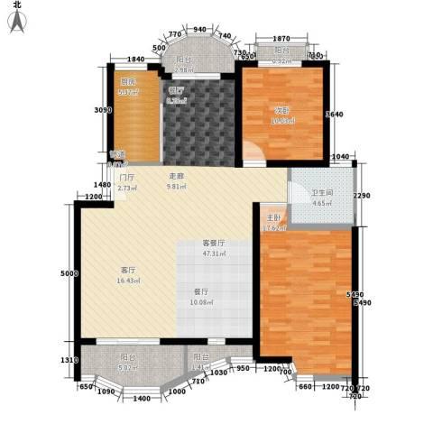 金苹果花园2室1厅1卫1厨164.00㎡户型图